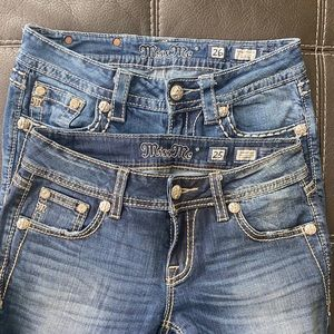 lot of 2 Miss Me jeans